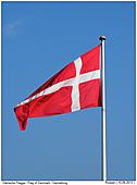 Dänische Flagge am Fahnenmast - Dänische Flagge - Dannebrog