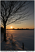 Sonnenuntergang - Sonnenuntergang im Schnee